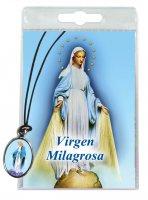 Medaglia Miracolosa con laccio e preghiera in spagnolo