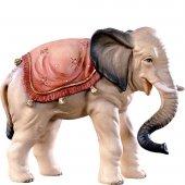Elefante H.K. - Demetz - Deur - Statua in legno dipinta a mano. Altezza pari a 11 cm.