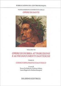Copertina di 'Nuova edizione commentata delle opere di Dante. Vol. 7/3'