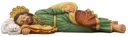 "Copertina di 'Statua in resina colorata ""San Giuseppe dormiente"" - lunghezza 20 cm'"