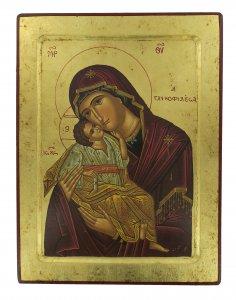 Copertina di 'Icona Madonna della Tenerezza, produzione greca su legno - 31,5 x 24 cm'