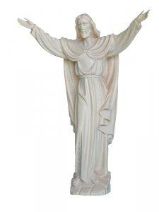 """Copertina di 'Statua in legno di tiglio """"Cristo risorto"""" - altezza 20 cm'"""