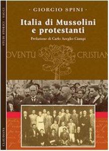 Copertina di 'Italia di Mussolini e protestanti'