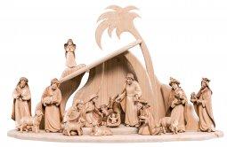 Copertina di 'Presepe completo in legno Val Gardena Artis 17 pezzi - Demetz - Deur - presepe in legno brunito a 3 colori da 20 cm.'