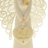 """Immagine di 'Statua in resina bianca angelo """"Per sempre"""" - altezza 15 cm'"""