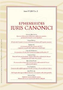 Copertina di 'Ephemerides Iuris Canonici'