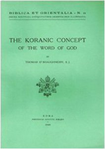 Copertina di 'The Koranic concept of the word of God'