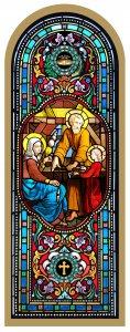 Copertina di 'Quadro Santa Famiglia in legno ad arco - 10 x 27 cm'