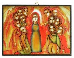 Copertina di 'Quadro pentecoste Padre Rupnik stampa 10,8x14,6 cm - (Brisbane)'