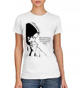 """Copertina di 'T-shirt """"Molti dei primi saranno..."""" (Mt 19,30) - Taglia L - DONNA'"""