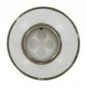 Immagine di 'Antivento in vetro da Ø 5 mm con ghiera a vite - metallo nichelato'
