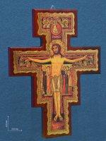 Croce di San Damiano stampata su legno - dimensioni 42x31 cm