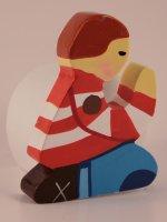 Sostegno colorato per preghiere bambino rosso