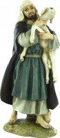 Pastore con pecora per presepe cm 12 - Linea Martino Landi