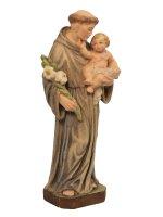 """Immagine di 'Statua in legno colorato """"Sant'Antonio di Padova"""" - altezza 15 cm'"""
