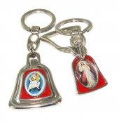 Portachiavi campana con doppia immagine - 4,5 x 3,5 cm