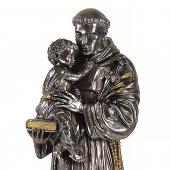 """Immagine di 'Statua sacra in resina argentata """"Sant'Antonio di Padova"""" - altezza 50 cm'"""