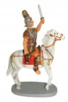 Soldato a cavallo Linea Martino Landi - presepe da 12 cm