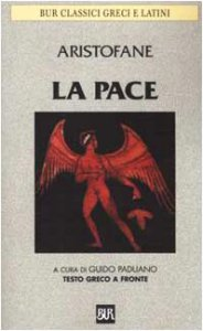 Copertina di 'La pace. Testo greco a fronte'