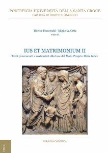 Copertina di 'Ius et Matrimonium'