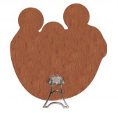 Immagine di 'Immagine della Sacra Famiglia sagomata su legno mdf con appoggio - 7,3 x 7,3 cm'