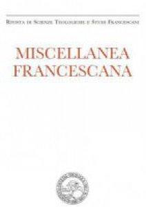 Copertina di 'Miscellanea Francescana n. III-IV/2015'