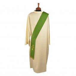 Copertina di 'Stola diaconale verde con croce stilizzata'