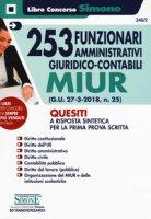 253 funzionari amministrativi giuridico-contabili MIUR. Quesiti a risposta sintetica per la prima prova scritta
