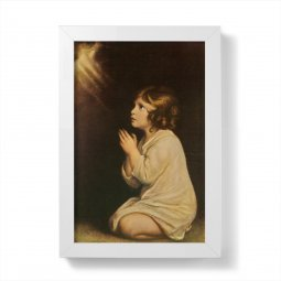 """Copertina di 'Quadretto """"Samuele il fanciullo"""" con cornice minimal - dimensioni 15x10 cm'"""