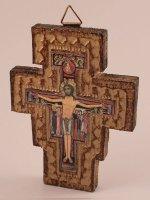 Croce di San Damiano in legno - dimensioni 10x7,5 cm