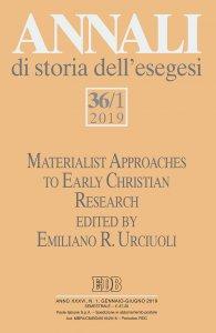 Copertina di 'Annali di storia dell'esegesi (2019). Vol. 36/1'