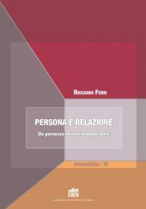 Copertina di 'Persona e relazione'