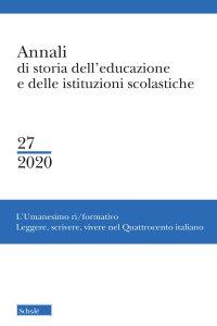 Copertina di 'Annali di storia dell'educazione e delle istituzioni scolastiche. Vol. 27/2020:'