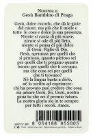 Immagine di 'Card Gesù Bambino di Praga in PVC - 5,5 x 8,5 cm - italiano'