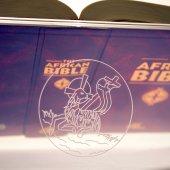 """Immagine di 'Leggio da mensa in plexiglass con incisione laser """"Agnello sacrificale""""  - dimensioni 36x21 cm'"""
