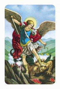 """Copertina di 'Card pvc con preghiera """"San Michele Arcangelo""""'"""