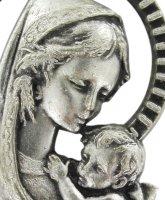 Immagine di 'Medaglia Madonna Bambino in metallo ossidato - 2,6 cm'