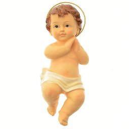 Copertina di 'Gesù Bambino in resina dipinto a mano - altezza 20 cm'