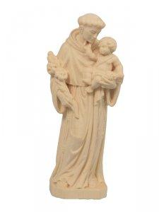 """Copertina di 'Statua in legno naturale """"Sant'Antonio di Padova"""" - altezza 12 cm'"""