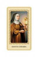 """Card plastificata con preghiera """"Santa Chiara"""" - dimensioni 6x10 cm"""