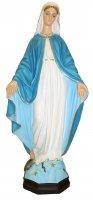 Statua da esterno della Madonna della Medaglia Miracolosa in materiale infrangibile, dipinta a mano, da 60 cm