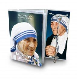 Copertina di 'Libretto con Rosario Madre Teresa di Calcutta - italiano'