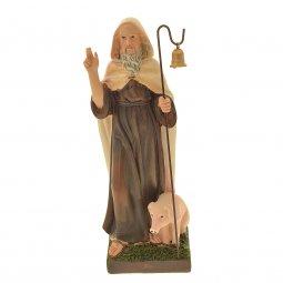Copertina di 'Statua di Sant'Antonio abate in resina colorata - altezza 21 cm'