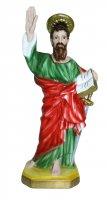 Statua San Paolo in gesso madreperlato cm 30 (dipinta a mano)