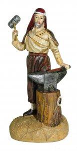 Copertina di 'Statuine presepe: Fabbro con incudine linea Martino Landi per presepe da cm 12'