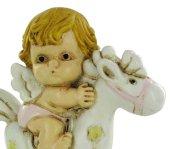 Immagine di 'Angelo dondolo in resina cm 6,5 rosa'