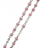 Immagine di 'Rosario rosa con confezione trasparente a forma di caramella mm.4'