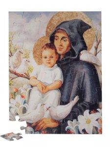 """Copertina di 'Puzzle """"Sant'Antonio con il Bambino e le colombe"""" (48 pezzi)'"""