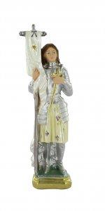 Copertina di 'Statua Santa Giovanna d'Arco in gesso madreperlato dipinta a mano - circa 25 cm'