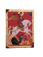 """Icona in legno  """"San Giorgio"""" - dimensioni 36x27 cm"""